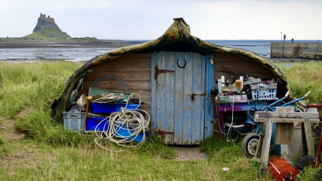 Houseboat on Lindisfarne Northumberland