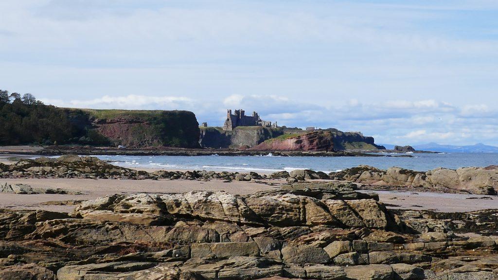 Tantallon Castle Seacliff Beach Northumberland