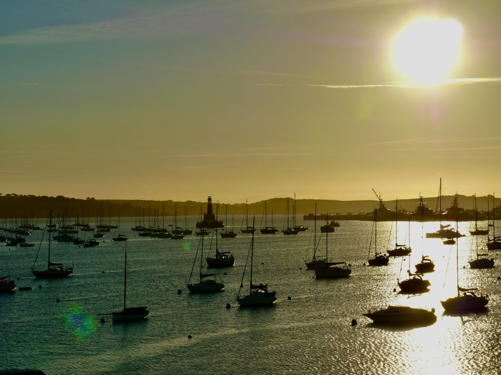 SW Cornwall Falmouth View from Greenbank Hotel