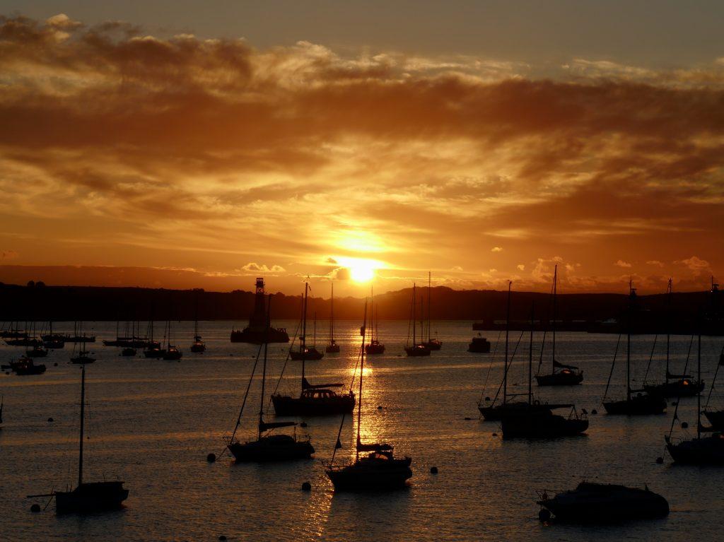 Sunrise over Falmouth Harbour