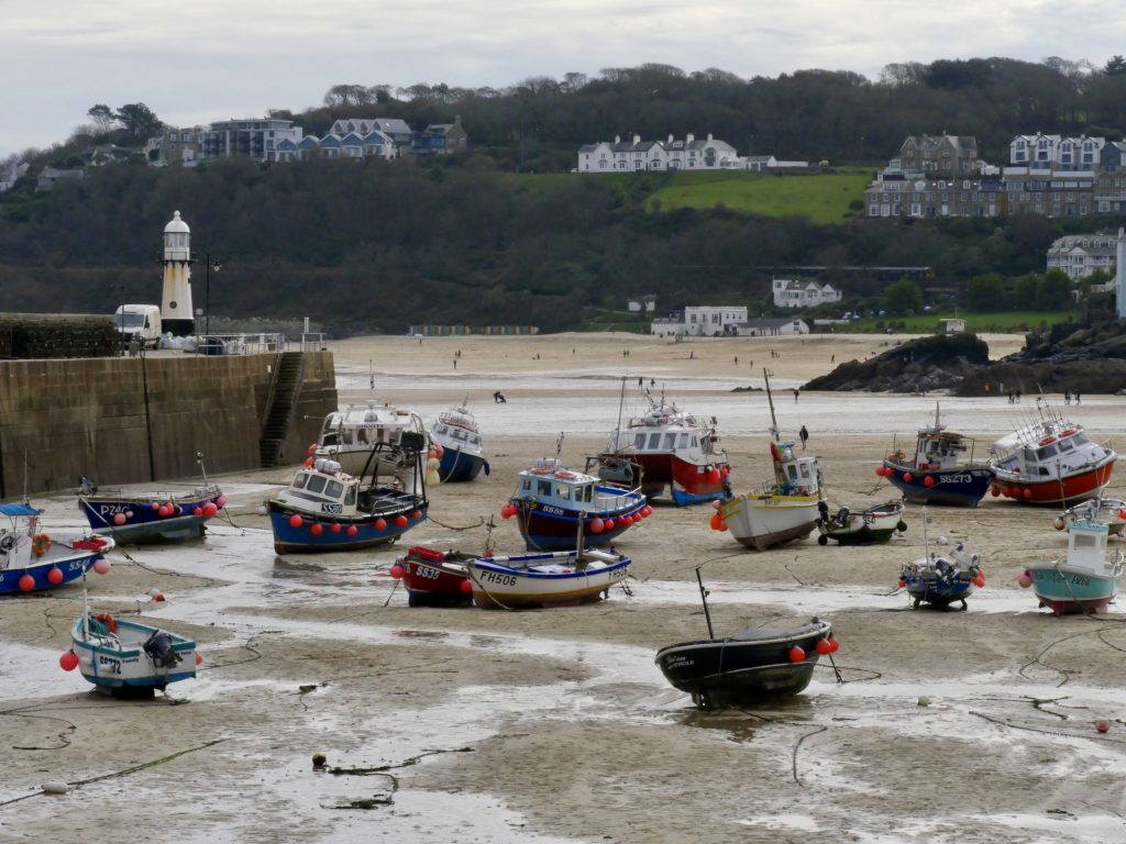 Boats on St. Ives Beach