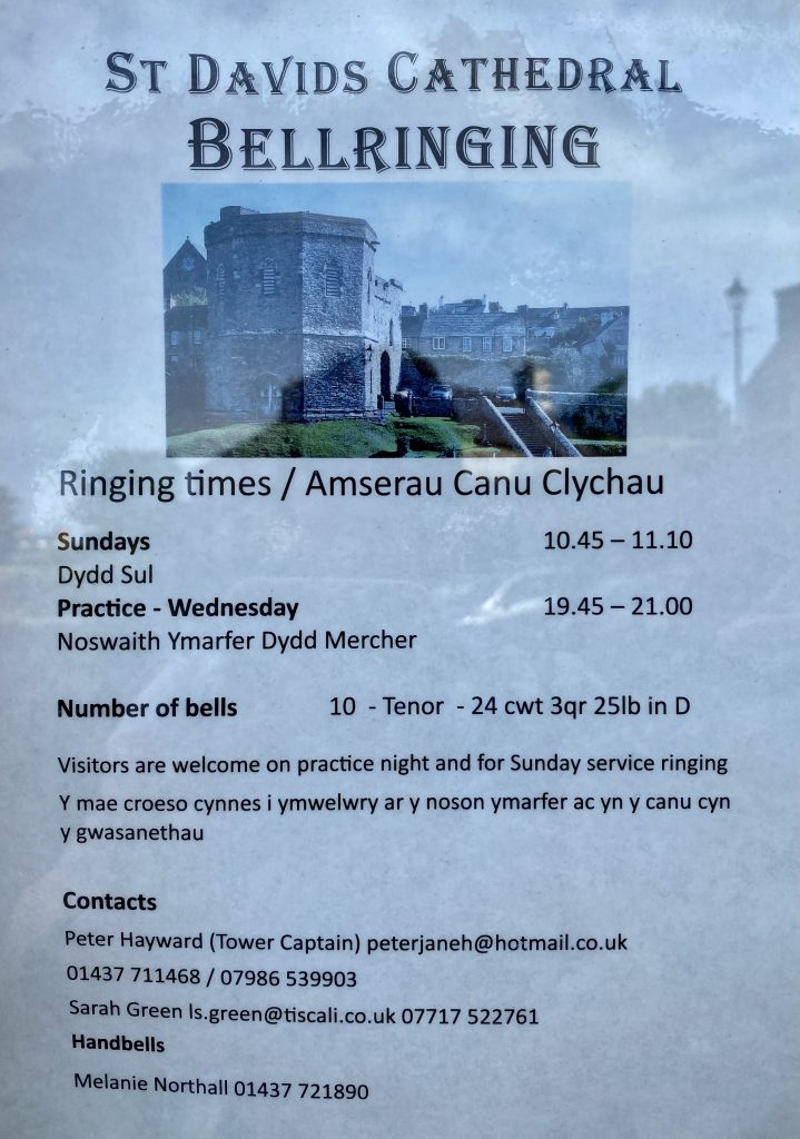 St. David's Peninsula St. David's Cathedral Bell Ringing