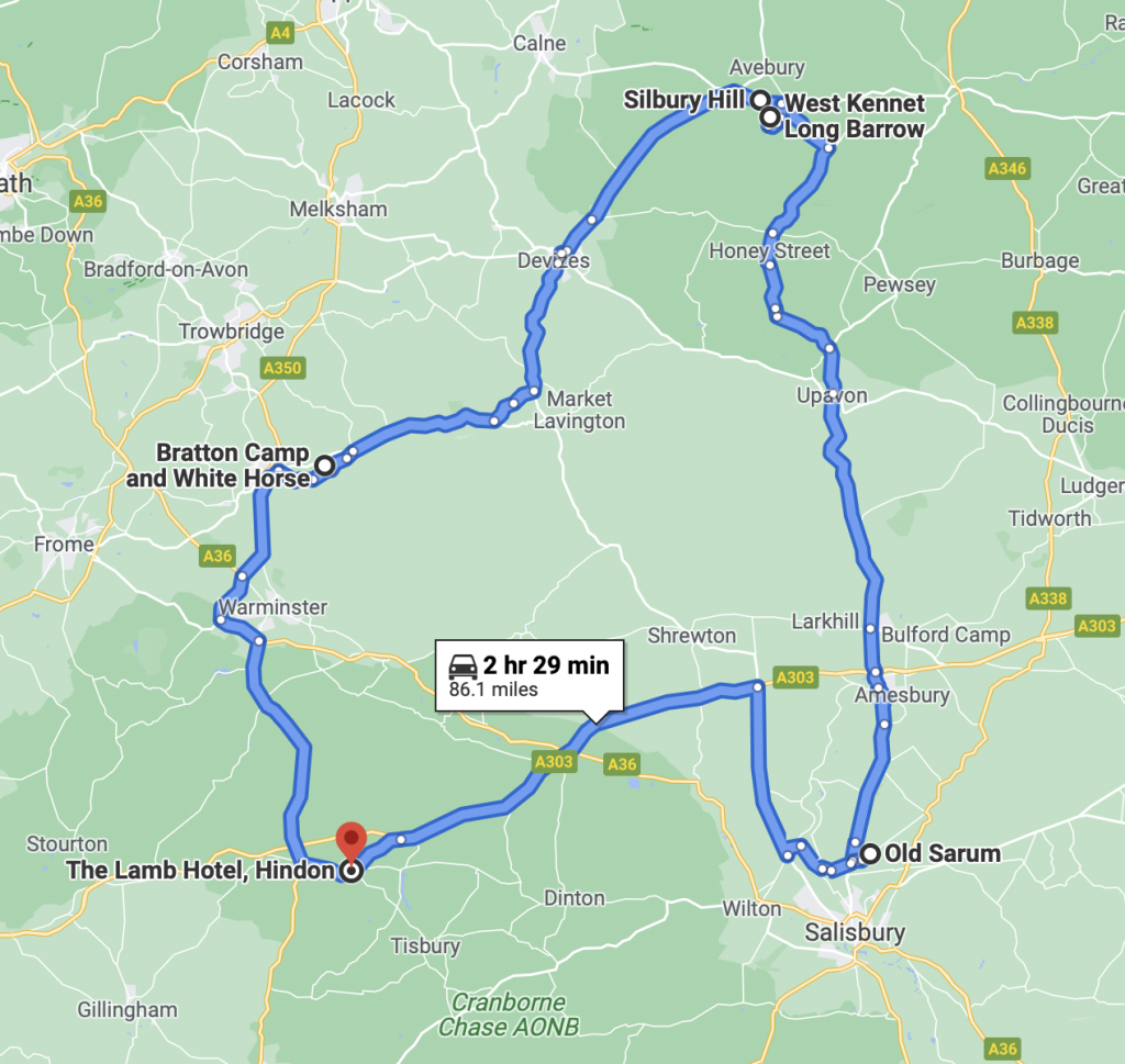 Wiltshire Itinerary Map